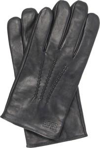 Czarne rękawiczki BOSS Casual