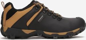 Czarne buty sportowe born2be sznurowane ze skóry