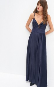 Niebieska sukienka Mohito na ramiączkach