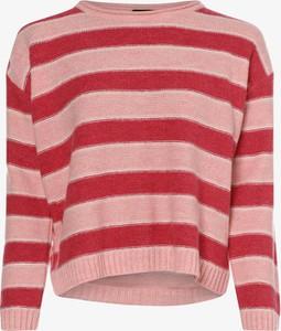 Różowy sweter More & More w stylu casual z wełny