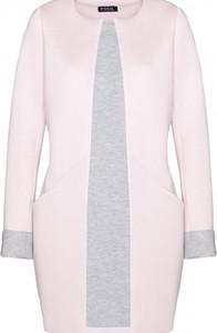 Różowy płaszcz Figl w stylu casual