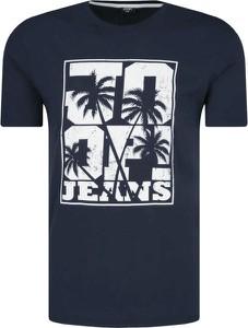 T-shirt Joop! z nadrukiem z krótkim rękawem w młodzieżowym stylu