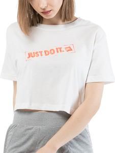 Bluzka Nike z okrągłym dekoltem z krótkim rękawem