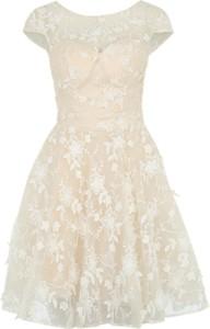 Beżowa sukienka chi chi london