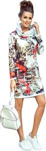 Sukienka NUMOCO z golfem w stylu casual z długim rękawem