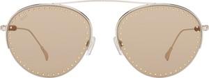 Żółte okulary damskie Tods Vintage