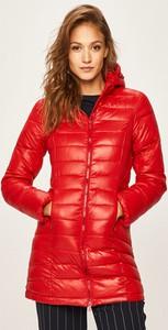 Czerwona kurtka Pepe Jeans długa w stylu casual