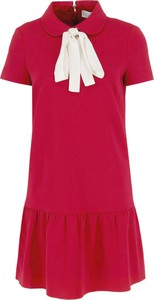 Sukienka Red Valentino z krótkim rękawem w stylu casual