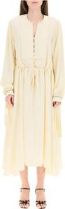 Sukienka N21 z długim rękawem z dekoltem w kształcie litery v