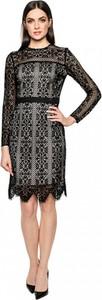 Czarna sukienka L'AF mini z długim rękawem