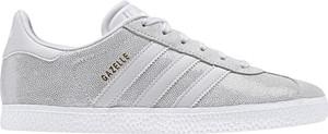 Trampki Adidas niskie sznurowane z zamszu