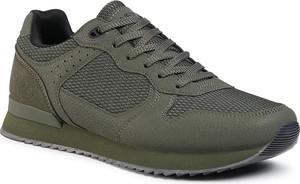 Zielone buty sportowe Lanetti sznurowane