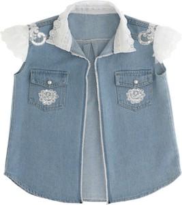 Niebieska bluzka dziecięca Anima By Justyna Steczkowska z jeansu