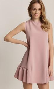 Sukienka Renee bez rękawów z okrągłym dekoltem trapezowa