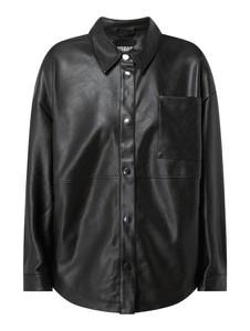 Czarna kurtka Urban Classics bez kaptura krótka ze skóry ekologicznej