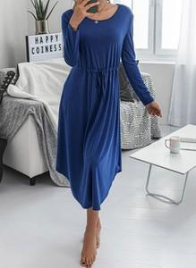 Niebieska sukienka Cikelly w stylu casual midi