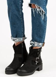 Czarne botki Czasnabuty w stylu casual na obcasie