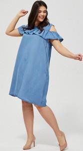 Sukienka Moodo z krótkim rękawem
