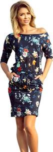 Sukienka NUMOCO mini z dekoltem w łódkę