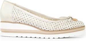 Baleriny Lewski shoes ze skóry w stylu casual