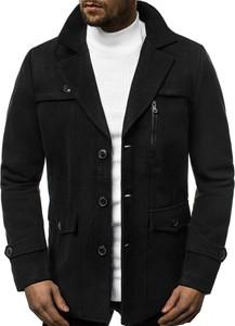 Czarny płaszcz męski Ozonee
