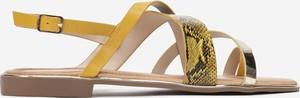 Sandały Multu z płaską podeszwą ze skóry z klamrami