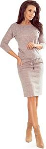 Sukienka Ptakmoda.com w stylu casual z długim rękawem