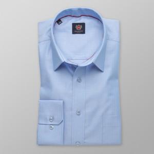 Niebieska koszula Willsoor z długim rękawem z klasycznym kołnierzykiem