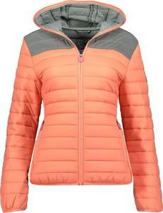 Pomarańczowa kurtka Geographical Norway krótka w stylu casual