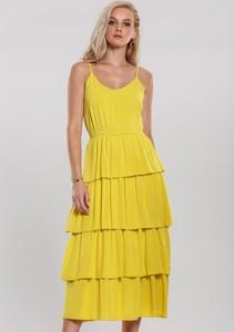Sukienka Renee midi na ramiączkach z dekoltem w kształcie litery v