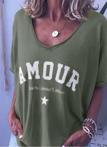 Bluzka Sandbella z bawełny z krótkim rękawem