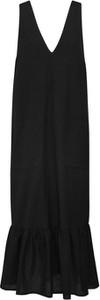 Sukienka EDITED z dekoltem w kształcie litery v maxi bez rękawów