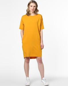 Żółta sukienka Minimum mini w stylu casual sportowa