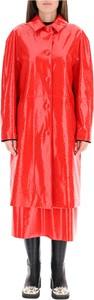 Czerwony płaszcz MSGM w stylu casual