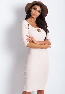 Różowa sukienka Sheandher.pl z bawełny mini