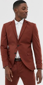 Czerwony garnitur Selected Homme