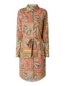 Sukienka 0039 Italy mini z długim rękawem z bawełny