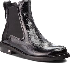 Czarne botki Nessi w stylu casual ze skóry ekologicznej