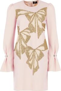 Sukienka Elisabetta Franchi mini z długim rękawem