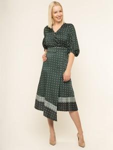 Sukienka Marella z krótkim rękawem w geometryczne wzory kopertowa