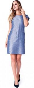 Sukienka POTIS & VERSO z okrągłym dekoltem z tkaniny