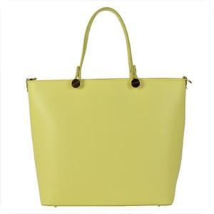 Żółta torebka vezze duża w stylu casual matowa