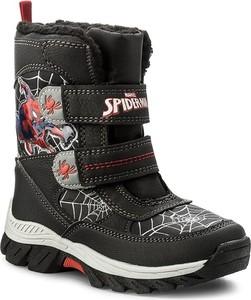 Buty dziecięce zimowe Spiderman na rzepy