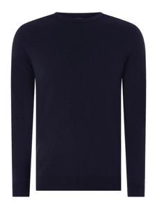 Granatowy sweter Selected Homme z bawełny
