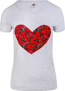 T-shirt JK Collection z krótkim rękawem z okrągłym dekoltem
