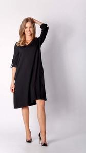 Granatowa sukienka Nommo w stylu casual midi