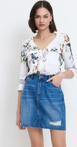 Bluzka Mohito z dekoltem w kształcie litery v z długim rękawem