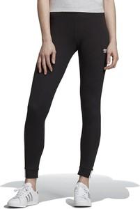 Czarne legginsy Adidas z bawełny