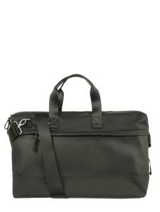Czarna torba podróżna Strellson ze skóry