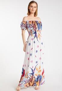 Sukienka Monnari z krótkim rękawem maxi hiszpanka